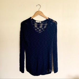 RD Style Loose knit v neck sweater